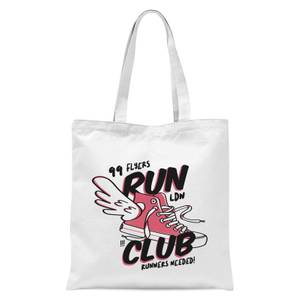 RUN CLUB 99 Tote Bag - White