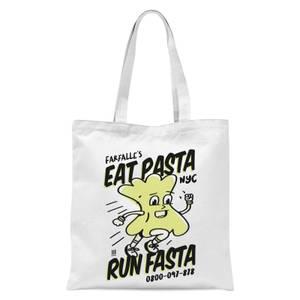 EAT PASTA RUN FASTA Tote Bag - White