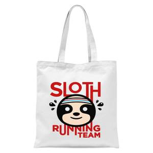 Sloth Running Team Tote Bag - White