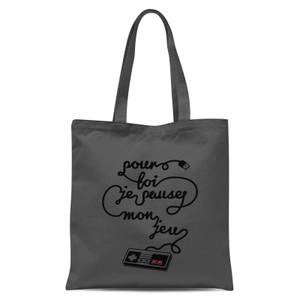 I'd Pause My Game For You (FR) Tote Bag - Grey