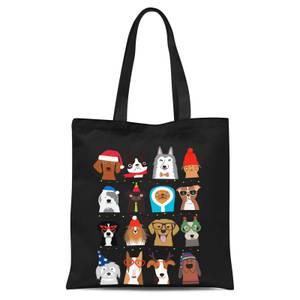 Merry Dogmas Tote Bag - Black