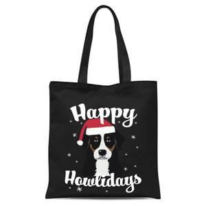 Happy Howlidays Tote Bag - Black