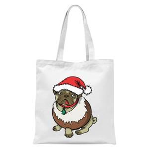 Christmas Puggin Tote Bag - White