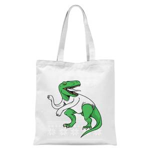 T-Rex Sleeves Tote Bag - White