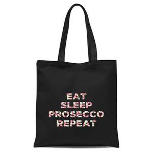 Eat Sleep Prosecco Repeat Tote Bag - Black