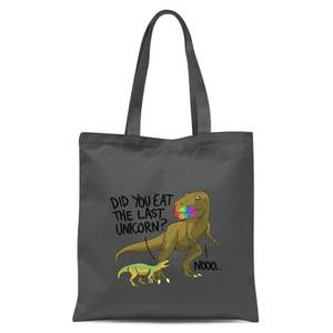 Did You Eat The Last Unicorn? Tote Bag - Grey