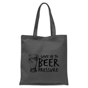Beer Pressure Tote Bag - Grey