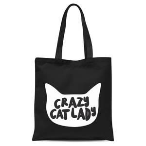Crazy Cat Lady Tote Bag - Black