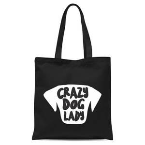 Crazy Dog Lady Tote Bag - Black