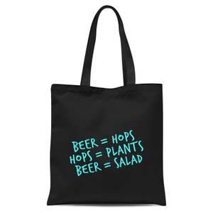 Beer Salad Tote Bag - Black