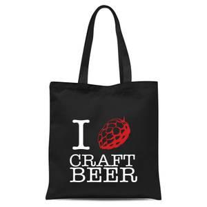 I Hop Craft Beer Tote Bag - Black
