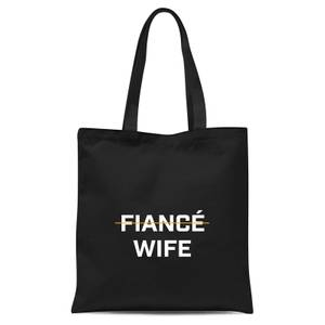 Fiance Wife Tote Bag - Black