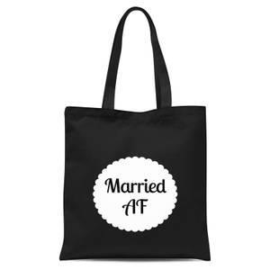 Married AF Tote Bag - Black