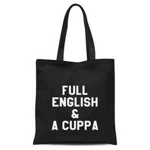 Full English And A Cuppa Tote Bag - Black