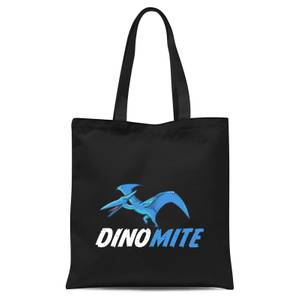 Dino Mite Tote Bag - Black
