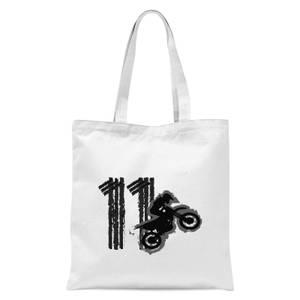 11 Motocross Tote Bag - White