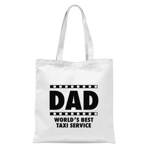 Dad Taxi Service Tote Bag - White