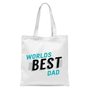 Worlds Best Dad Tote Bag - White