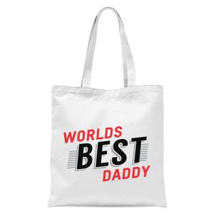 Worlds Best Daddy Tote Bag - White