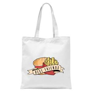 Fast Food Friends Tote Bag - White