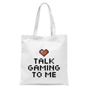Talk Gaming To Me Tote Bag - White