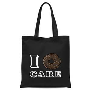 I Donut Care Tote Bag - Black