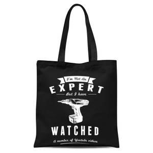 Im Not An Expert Tote Bag - Black