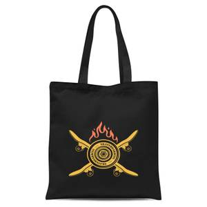 Skateboards On Fire Tote Bag - Black