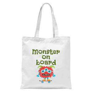 Monster On Board Tote Bag - White