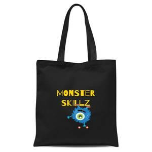 Monster Skillz Tote Bag - Black