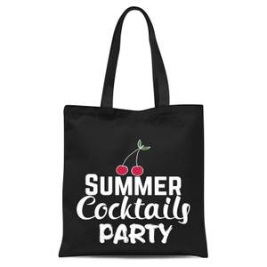Summer Cocktails Party Tote Bag - Black