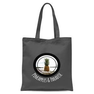 Pineapples And Paradise Tote Bag - Grey