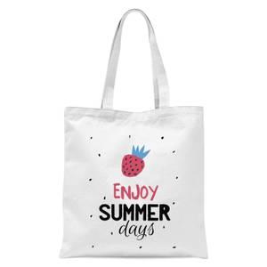 Enjoy Summer Days Tote Bag - White