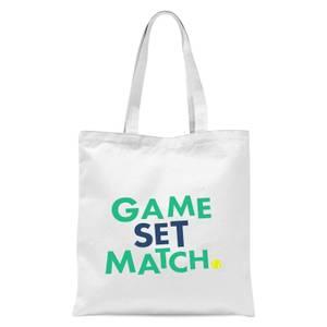Game Set Match Tote Bag - White