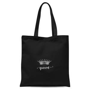 Queens Crown Tote Bag - Black