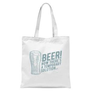 Beer Temporary Solution Tote Bag - White