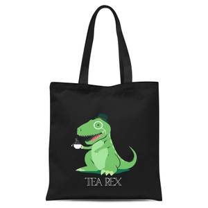 Tea Rex Tote Bag - Black