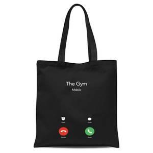 Gym Calling Tote Bag - Black