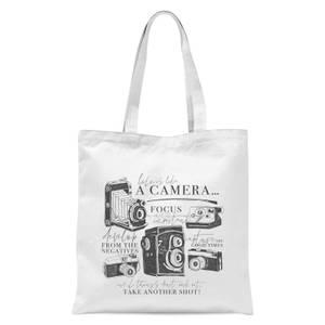 Life Is Like A Camera Tote Bag - White