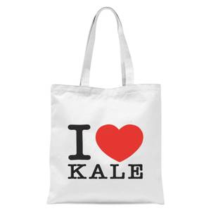 I Heart Kale Tote Bag - White