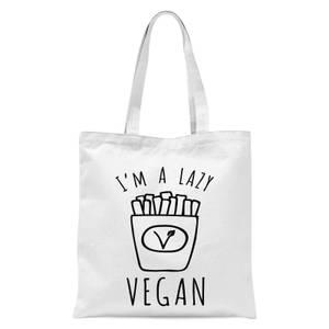 Lazy Vegan Tote Bag - White
