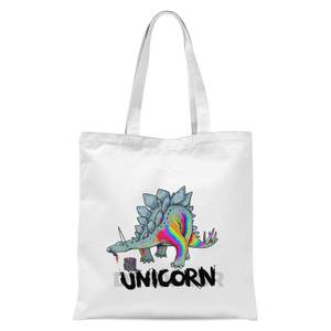 DinoUnicorn Tote Bag - White