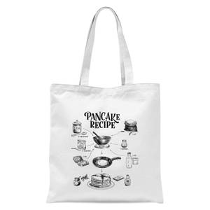 Pancake Recipe Tote Bag - White