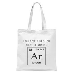 Periodic Pun Tote Bag - White