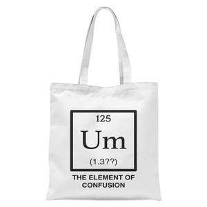 The Element Of Confusion Tote Bag - White