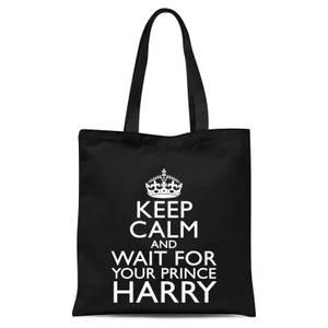 Keep Calm Wait Tote Bag - Black