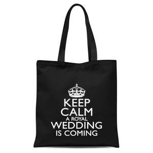 Keep Calm Wedding Coming Tote Bag - Black