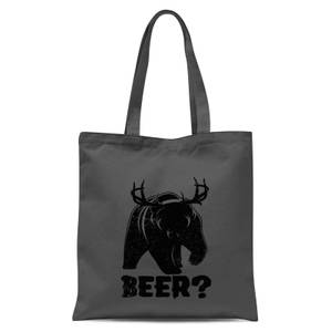 Beer Bear Deer Tote Bag - Grey
