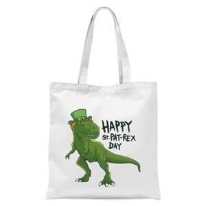 Happy St Pat-Rex Tote Bag - White