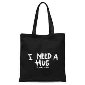 I Want A Hug Tote Bag - Black